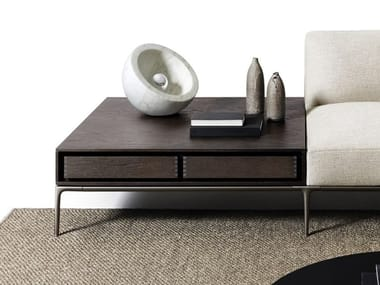 Tavolino basso quadrato in MDF HORIZONTAL | Tavolino in legno