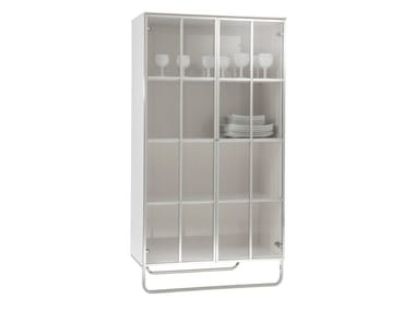 Wood and glass display cabinet HYANNIS PORT | Display cabinet