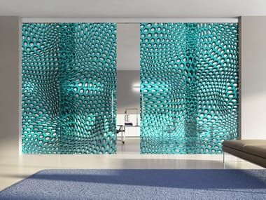 Crystal movable wall HYBRID CIRCLE BAYBLUE
