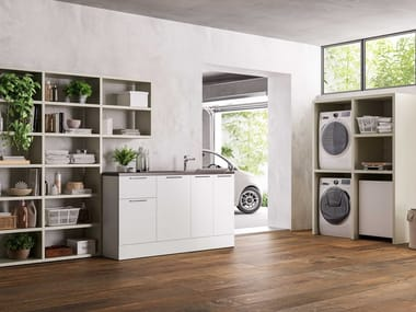 Sectional laundry room cabinet HYD04 | Laundry room cabinet