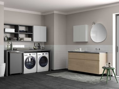 Sectional laundry room cabinet HYD15 | Laundry room cabinet