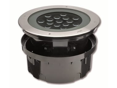Segnapasso a LED a pavimento in acciaio inox per esterni HYDROFLOOR MAXI COMPACT