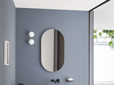 Oval wall-mounted bathroom mirror I CATINI | Oval mirror