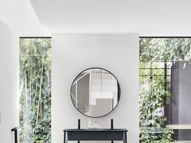 Round wall-mounted bathroom mirror I CATINI | Round mirror