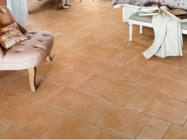 Porcelain stoneware wall/floor tiles with terracotta effect I CHIOSTRI TABACCO