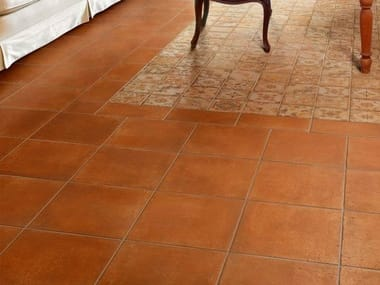 Porcelain stoneware wall/floor tiles with terracotta effect I CHIOSTRI AMBRA