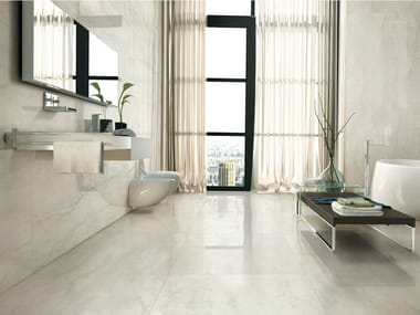 Porcelain stoneware wall/floor tiles with marble effect I MARMI BIANCO BERNINI