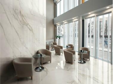 Porcelain stoneware wall/floor tiles with marble effect I MARMI CALACATTA