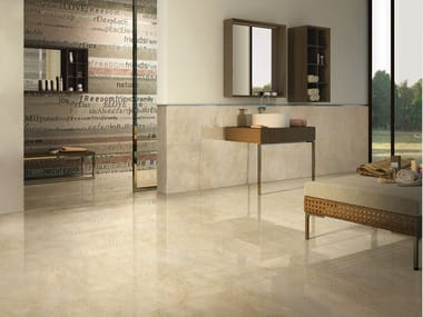 Porcelain stoneware wall/floor tiles with marble effect I MARMI CREMA MARFIL