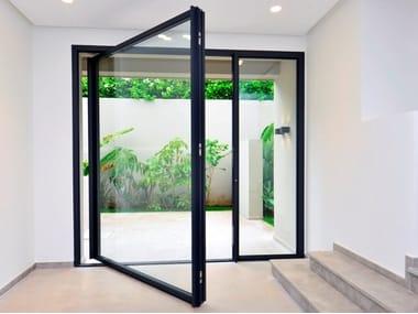Pivot frameless door system iFRAME Pivot