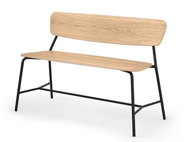 Multi-layer wood bench seating with back IBETTA | Bench