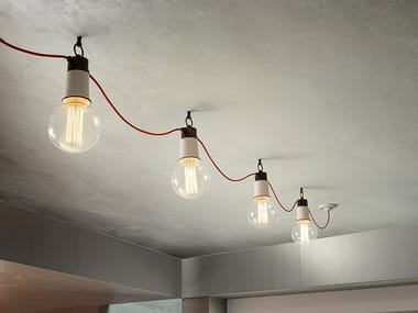 Modular metal ceiling lamp IBRID SYSTEM