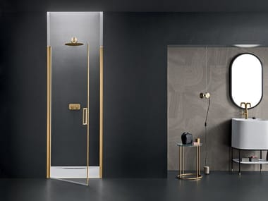 Niche glass shower cabin with hinged door ICARO | Niche shower cabin