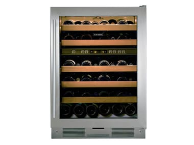 Freestanding upright stainless steel wine cooler with glass door Class E ICBUW-24FS | Wine cooler