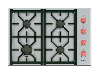 Piano cottura a gas da incasso in acciaio inox ICBCG304P/S PROFESSIONAL | Piano cottura