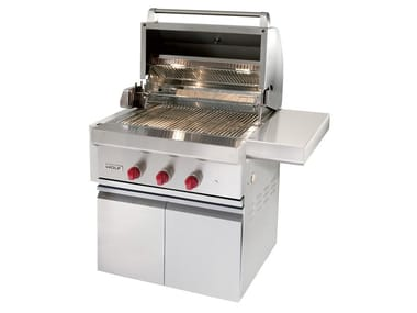 Barbecue a gas in acciaio inox ICBOG30-CART30 | Barbecue