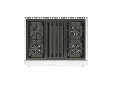 Piano cottura a gas da incasso in acciaio inox con grill ICBSRT364G | Piano cottura con grill