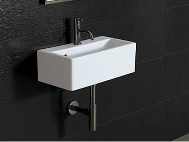 Rectangular wall-mounted handrinse basin ICE 50X27