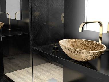 Countertop oval single crystal washbasin ICE OVAL LUX