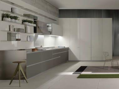 Glass linear kitchen ICON | Kitchen