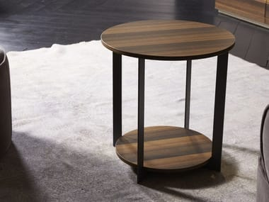 Round wooden coffee table ICS | Coffee table