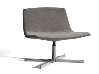 Fabric easy chair with 4-spoke base ICS 507CRU