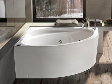 Vasca da bagno angolare idromassaggio in acrilico IDEA 140
