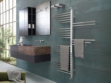 Swivel steel towel warmer IDEAS | Vertical towel warmer