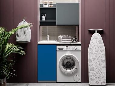 Mobile lavanderia con lavatoio per lavatrice IDROBOX COMP. 2