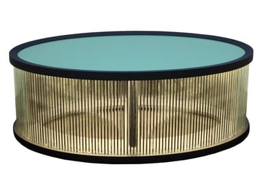 Low lacquered coffee table with light IJUS | Lacquered coffee table