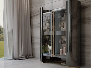 Lacquered highboard with doors IKAT