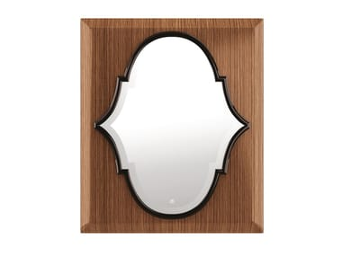 Wall mirror with frame in canaletto walnut IKE