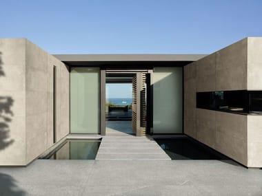 Porcelain stoneware wall/floor tiles with concrete effect IKON BEIGE