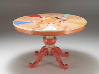 Round wooden table IL TAVOLO DELLE DONNE