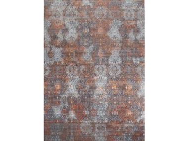 Handmade rectangular rug ILLUSION BLUR