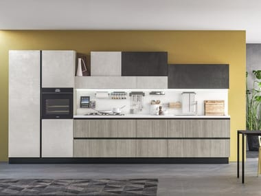 Lacquered linear fitted kitchen IMMAGINA PLUS NECK 2