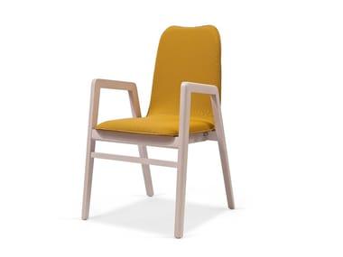 Cadeira estofada de tecido com braços IMO CB