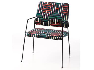 Cadeira de poliéster com braços IMPALA© BY CORALIE PRÈVERT | Cadeira com braços