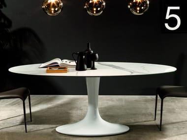 Tavolo ovale in gres porcellanato IMPERIAL   Tavolo in gres porcellanato