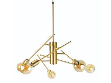 Lampada a sospensione a LED orientabile in acciaio o ottone IMPERIALE / S5