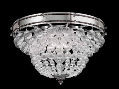 Glass ceiling light with crystals IMPERO | Ceiling light