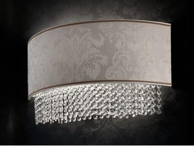 Applique a luce diretta incandescente in tessuto con cristalli IMPERO VE 1186   Applique