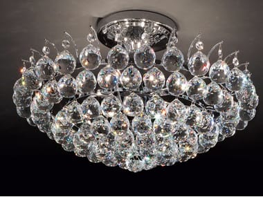 Lampada da soffitto incandescente in metallo con cristalli IMPERO & DECO VE 808