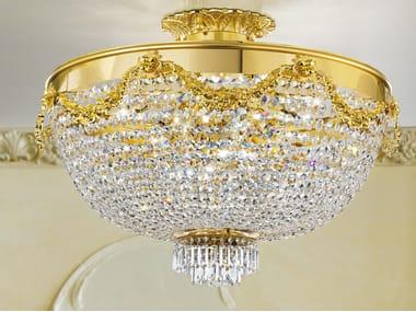 Lampada da soffitto incandescente in metallo con cristalli IMPERO & DECO VE 818 PL