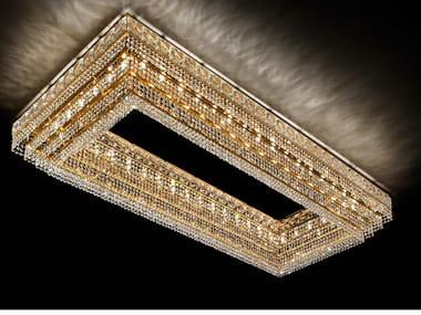 Lampada da soffitto incandescente in metallo con cristalli IMPERO & DECO VE 821