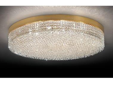 Lampada da soffitto incandescente in metallo cromato con cristalli IMPERO & DECO VE 897
