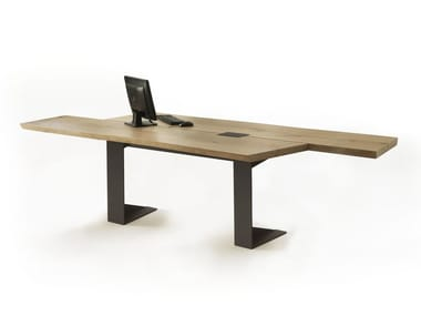 Wooden office desk IMPLEMENT | Office desk