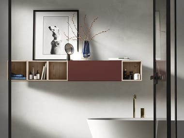 Suspended HPL bathroom cabinet IN&OUT 8 | Suspended bathroom cabinet