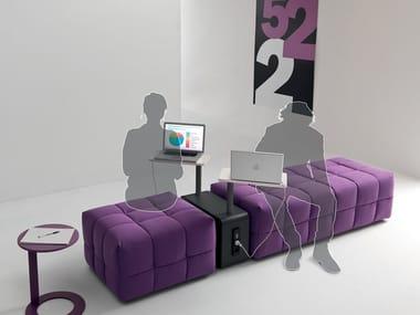 Upholstered modular fabric bench INATTESA | Bench