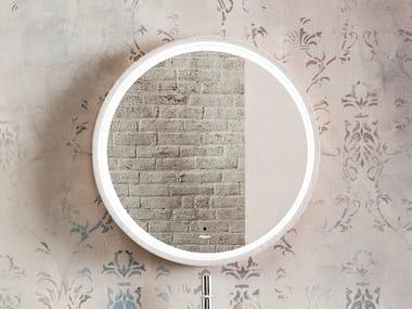 Espelho moldurado de cinza estilo moderno de parede para banheiro INCANTO | Espelho